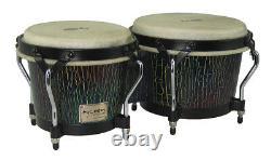 Tycoon Percussion 7 & 8 1/2 Supremo Select Series Bongos With Dark Iris Finish