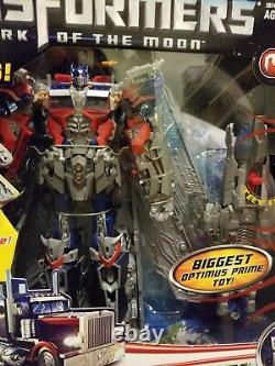 Ultimate Optimus Prime Figure Dark To The Moon Collectible Movie Big Electronic