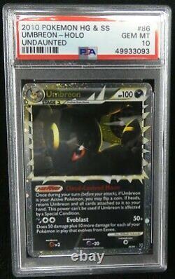 Umbreon Prime 86/90 HG & SS Pokemon Card PSA 10 Gem Mint