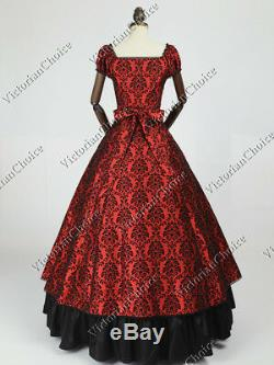 Victorian Choice Gothic Dark Queen Ball Gown Dress Theater Steampunk Costume 020