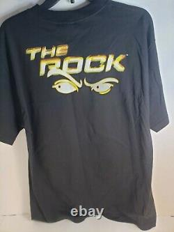 Vintage 1999 WWF The Rock The Peoples Choice Glow In Dark T-Shirt Adult Large