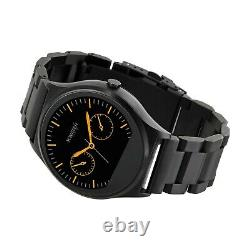 X-WATCH Ultra Slim Qin XW Prime II Dark Steel Android and iOS Smartwatch