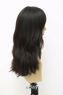 Yaffa Wigs Finest Quality Long Dark Brown Hair 100% Virgin Human European Hair