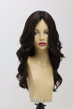 Yaffa Wigs Finest Quality Long Hair Dark Brown 100% Virgin Human European Hair