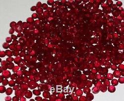 1.54cts 20pcs Qualité Aaa Naturel En Vrac Ruby Lot Couleur Rouge Foncé