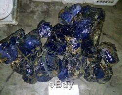 1 À 20 KG Lot Naturel Haute Qualité Non Traitée Rugueux Dark Blue Opal Livraison Gratuite