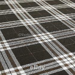 10 Mètres Polyvalent Qualité Brun Foncé Tartan Design Intérieur Tissu D'ameublement