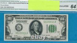 $ 100.1928-réserve Fédérale Sceau Vert Foncé Chicago Remarque Choix Nouveau