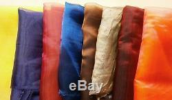 100 Yards Organza Tissu Rouleau 60 Large De Haute Qualité Sheer Drapage Artisanat De Mariage