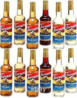 12 Pack Your Choice Sirop Torani 750 ML Soda Café Vanille Caramel Noisette