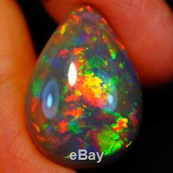 16,38 Ct Rare Qualité Foncé Naturel Welo Éthiopien Opal-eaa116