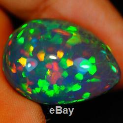 17,78 Ct Rare Qualité Foncé Naturel Welo Éthiopien Opal-eaa114