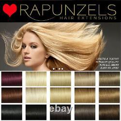 18 Remy Quality Rapunzels Cheveux Trames La Tissage Trames Weaving Wig Making Glue In