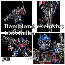 19 Transformers Cachée De La Lune Optimus Prime Figure 3a Threezero USA Nouveau