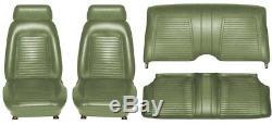 1969 Seat Standard Camaro Coupé Intérieur Kit De Protection Qualité Oe! Vert Foncé