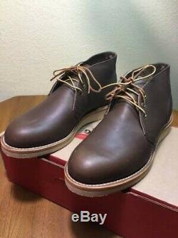 1ère Qualité! Bottes Chukka Au Chocolat Noir 8596 USA 10d Rare Style Chaussures Aile Rouge
