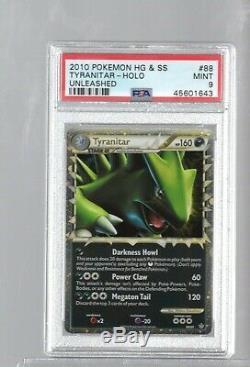 2010 Unleashed 88/95 88 Tyranitar Premier Holo Psa 9