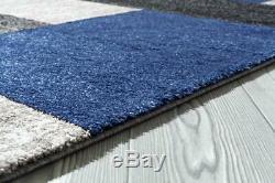 3322 Carpette Moderne Abstraite Bleu Foncé Grand Tapis De Haute Qualité, Tapis Toutes Tailles