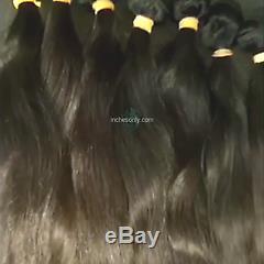 34 Pouces 2 Brun Foncé Qualité De Grade 10a Longues Extensions De Cheveux De L'inde Temples