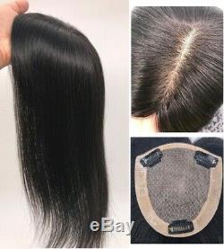 4.7x5 Soie Top 100% De Haute Qualité Cheveux Humains Naturels Haut De Forme Postiche-classic