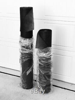 4' X 300' Prof Qualite Gris Foncé / Noir Landscpe Weed Tissu, 2 Rolls
