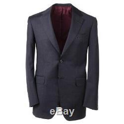 4195 $ Oxxford Costume En Laine Gris Foncé Uni Essential 48 R