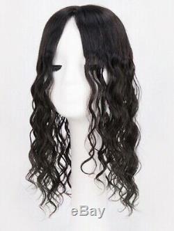 5.5x6 Soie Top 100% De Haute Qualité Wavy Cheveux Humain Naturel Topper Unité Postiche