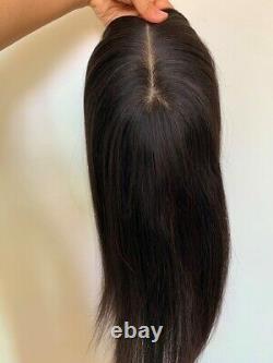 6.3x6.3 Haut De Soie 100% De Haute Qualité Cheveux Humains Topper Coupe Pas De Bangs