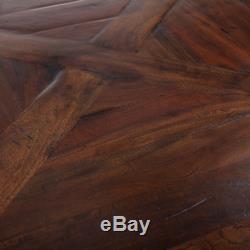 96 Longue Table À Manger Ovale En Bois De Manguier Massif, Teinté Foncé De Qualité Incroyable