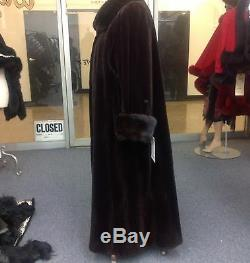 Acajou Foncé Femme Sheared Mink 53 Balançoire Coat 90 Sweep Nouveau Plus Size Chic