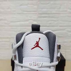 Air Jordan Retro 12 Blanc Gris Foncé Pre-commande Taille 7-13 Top Qualité