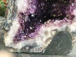 Amethyst Cathédrale Geode Super Qualité Et Belle Couleur Bleu Foncé Agate Visage