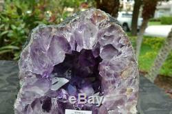 Améthyste Cathédrale Geode Cristaux Avec Une Grande Énergie Super Qualité Pts Noir