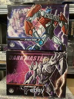 Apc Toys Apc-01 Attack Prime Chrome Ver 2.0 Et Dark Master Apc-02 Nouveau Dans Les Boîtes