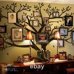 Arbre Mémoire De Haute Qualité Big Family Autocollant Mural D'arbre Photo