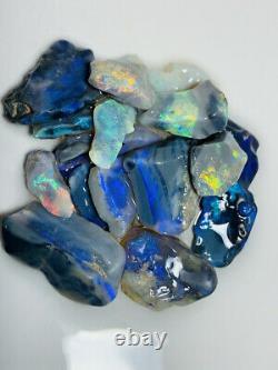 Australien Rough Opal High Grade 69ct Sélectionnez Black & Dark Bright Couleurs Gb1464