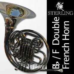 Bb / F Double Français Horn Foncé Nickel Sterling Pro Qualité Brand New Cas