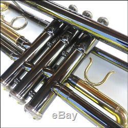 Bb Trompette Cibaili Noir Nickel De Haute Qualité Tout Neuf Avec De Carry Case