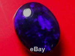 Belle Qualité Violet Foncé Bleu Couleur Motif Noir Solide Opale Naturelle 12,34 Carats