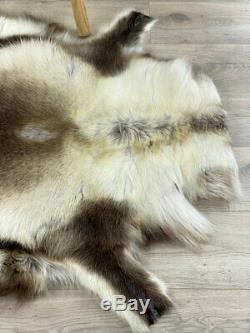 Brun Foncé Renne Tapis Fourrure Tapis Cacher Throw Animale Peau # 21 De Haute Qualité