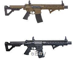 Carabine À Air Comprimé Avec Pistolet-mitrailleur Double Entièrement Alimentée Au Co2 Automatique Dpms Crosman Dsbr Votre Choix Noir / Fde