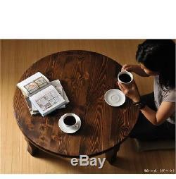 Chabudai, Table Ronde Familiale Japonaise Traditionnelle, Table De Haute Qualité Fabriquée À La Main