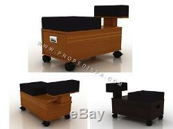 Chariot Pedi De Qualité / Pedicart / Chariot À Tiroirs Pour Chaise De Pédicure Spa Cheveux Ongles