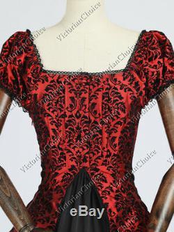Choix Victorien Gothique Reine Sombre Robe De Bal Robe De Théâtre Costume Steampunk 020