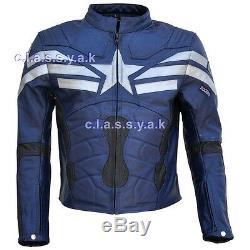 Classyak Hommes Captain America Winter Soldier Veste En Cuir Top Qualité Xs-5xl