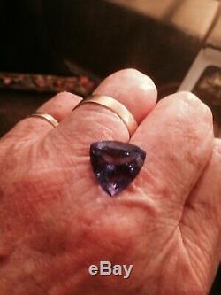 Coupe Billion, 8,92 Ct. Qualité Gem Tanzanite. Couleur Noir / Strong Bleu Violetish
