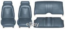 Couvre-siège Intérieur Camaro Coupé Standard 1969 De Qualité Oe! Bleu Foncé