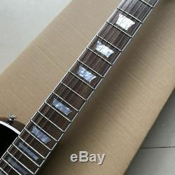 Custom Shop Guitare Électrique De Haute Qualité En Érable Flammé Foncé (livraison Gratuite)