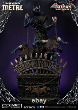 DC Comics Dark Nights De Luxe En Métal Batman Qui Rit Statue Prime 1 Sideshow