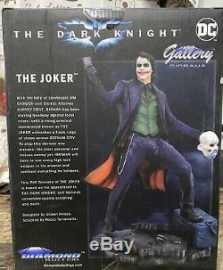 DC Galerie Dark Knight Film Le Joker Pvc Statue Diamond Select Nib Mwob